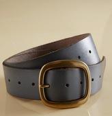 Brass Buckle Leather Belt