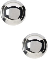 Candela Sterling Silver 11mm Polished Ball Stud Earrings with 14K Gold Post