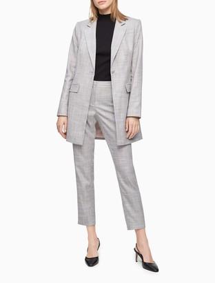 Calvin Klein Grey Plaid Topper Jacket