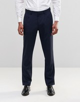 Asos Slim Smart Work Trousers With 5 Pockets In Navy