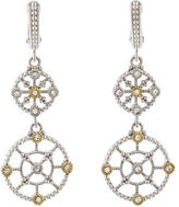 Judith Ripka Two-Tone Crystal Earrings