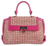 Salvatore Ferragamo Woven Leather Sofia Satchel