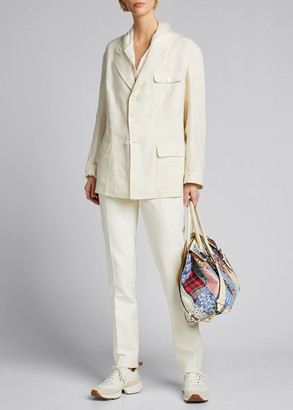 Ralph Lauren Collection Demi Linen Chore Utility Coat