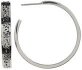 Lois Hill Sterling Silver 38mm Handcrafted Open Scroll Hoop Earrings