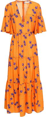 Borgo de Nor Printed Crepe De Chine Maxi Dress