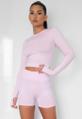 Missguided Pink Seamless Msgd Booty Gym Shorts