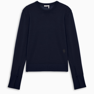 Chloé Navy sweater with buttoned cuffs