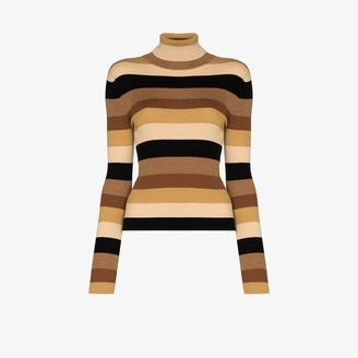 STAUD Striped Turtleneck Jumper