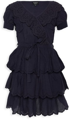 Bardot Junior Girl's Cindy Ruffle Lace-Eyelet Tie-Waist A-line Dress