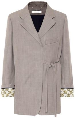 Chloé Wool-twill blazer