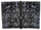 McQ by Alexander McQueen Printed Leather Clutch