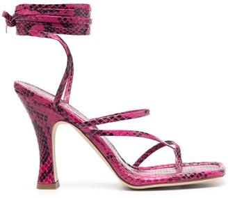 Paris Texas Ankle-Tie Leather Sandals