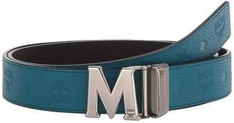 MCM Claus Reversible Belt (Deep Lagoon) Men's Belts