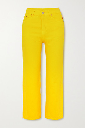 Denimist Pierce Cropped High-rise Straight-leg Jeans - Yellow