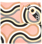 Fendi Hypnoteyes print shawl - women - Silk - One Size