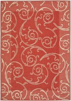 Safavieh Courtyard Collection CY2665-3707 Red and Natural Indoor/ Outdoor Area Rug, 8 feet by 11 feet (8' x 11')