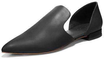 Vince Damris Two-Piece Siviglia Leather Loafer Flat