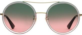 Gucci Round Metal Sunglasses