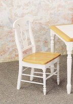 Coaster Home Furnishings Napoleon Style Dining Chairs, Natural & White Finish, Set of 2