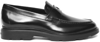 Hogan Black Leather Loafer