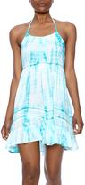 En Creme Aqua Tie Dye Dress