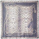 Roberto Cavalli Women's Patterned Scarf, Black/Leopard Print