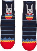 Falke Navy Easter Surprise Catspads Socks