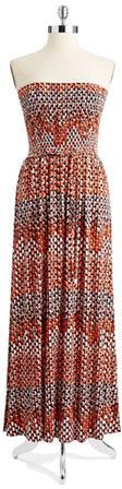 Anne Klein Patterned Tube Maxi Dress