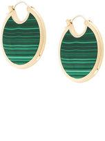 Pamela Love Mojave large malachite earrings