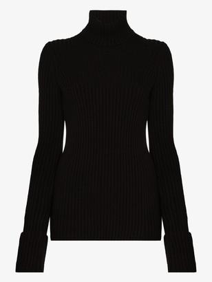 Bottega Veneta Open back turtleneck wool sweater
