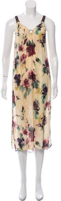 Haute Hippie Sleeveless Knee-Length Dress green Sleeveless Knee-Length Dress