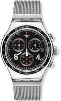 Swatch Men's YVS401GB Irony ie Analog Display Quartz Silver Watch