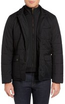 Ted Baker Men's Jasper Trim Fit Quilted Jacket With Removable Bib