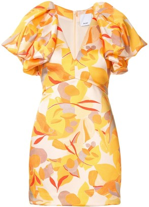 Acler Raven abstract-print mini dress