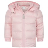 Ralph Lauren Baby Girls Pink Down Padded Puffer Coat
