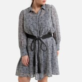 Thumbnail for your product : La Redoute Collections Plus Zebra Print Shirt Dress