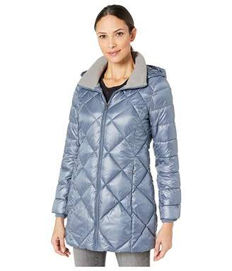 Andrew Marc Quilted Matte Satin Puffer