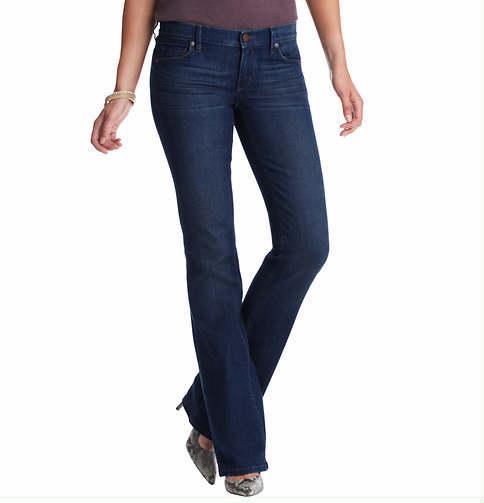 LOFT Tall Modern Flare Leg Jeans in Winded Blue Wash