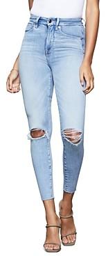 Good American Good Waist Crop Skinny Jeans in Blue352