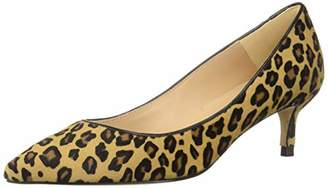 LK Bennett Women's Audrey Haircalf Leopard Print Pointed Toe Kitten Heel Court Shoes Pump 35 M EU (5 US)