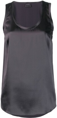 Brunello Cucinelli Sleeveless Shift Blouse