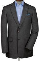 Charles Tyrwhitt Grey slim fit herringbone blazer