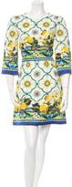 Dolce & Gabbana Spring 2016 Lemon & Majolica Brocade Dress