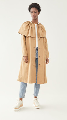 Caped Cotton Trench