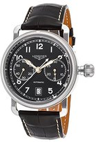 Longines L27834532 Men's Heritage Auto Chrono Genuine Alligator And Dial Ss Watch