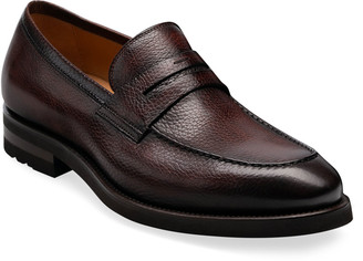 Magnanni Men's Matlin II Pebbled Leather Penny Loafers