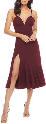 Dress the Population Marilyn Sweetheart Ruffle-Hem Midi Dress