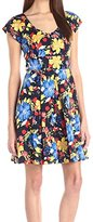 Plenty by Tracy Reese Dresses Women's Tania Cap Sleeve Fit and Flare Dress