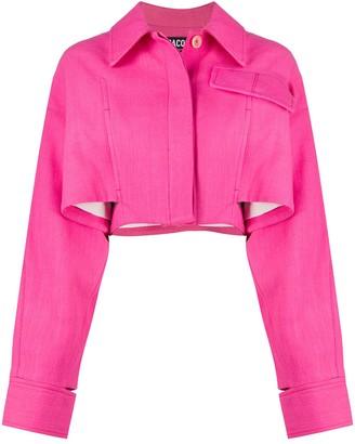 Jacquemus Esterel square cropped jacket