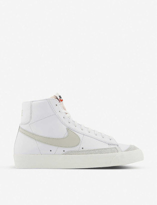 Nike Blazer Mid 77 leather and textile trainers